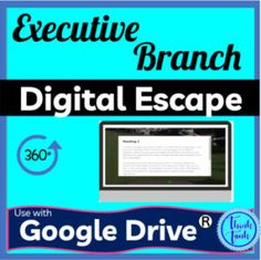 Executive Branch Digital Escape Room - an upper elementary or middle school activity. Includes reading passages, quizzes,
