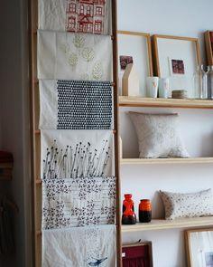 I love this tea towel display to display the beautiful tea towels I have received.