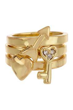 Smitten Ring Set by Beyond Rings on @HauteLook