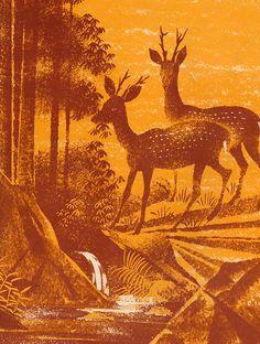 INFORMACIÓN DEL LIBRO-  Mitad como grande y el tigre por Bernice Frankel, ilustrado por Leonard Weisgard.  Publicado por Franklin Watts en 1961