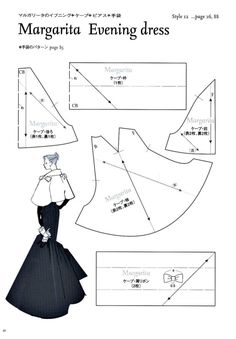 Margarita Evening Dress Pattern - Page 1 of 4