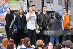 Ryan Tedder (C) and the band One Republic perform live on NBC's 'Today' at Rockefeller Plaza on May 2, 2017 in New York City.