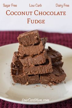 sugar free coconut chocolate fudge recipe