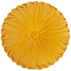 Liven up your home décor with the Holan Velvet Round Yellow Throw Pillow. Visit your local At Home store to purchase and find other affordable Throw Pillows. Dorm Pillows, Yellow Throw Pillows, Cute Pillows, Velvet Pillows, Burlap Pillows, Accent Pillows, Sofa Design, Interior Design, Furniture Design