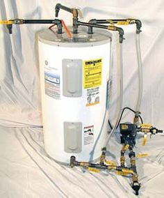 Basic bio-diesel making kit using residential hot water heater. (Photo courtesy of Utah Bio-Diesel Supply)