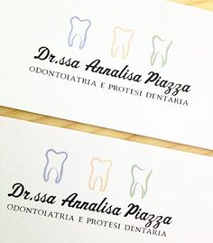 Biglietti da visita dottoressa Annalisa Piazza #logo #dentist