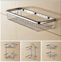... Wall Mounted Chrome Bathroom Soap Dish Brass Bath Shower Shelf New  Arrivals Bath Shampoo Holder Basket Holder Building Material