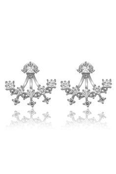 Krystal Ear Jackets 925 Sterling Silver Let shine your winter