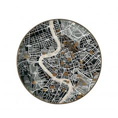 Seletti - Plate Maps - Black - Rome Map | Seletti New Zealand, Australia, Hong Kong
