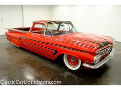 1959 Chevrolet El Camino 327 Automatic Dual Exhaust Red on Red