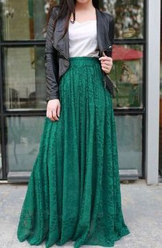Cheap Skirts, Buy Directly from China Suppliers: Casual green lace crochet long maxi skirt 2015 summer style new fashion womens elegant waterfall pleated saia feminino