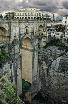 Ronda - Málaga, Spain looks like we have to go back to Malaga ; Places Around The World, Travel Around The World, Around The Worlds, Places To Travel, Places To See, Ronda Malaga, Voyage Europe, Spain And Portugal, Europe Destinations
