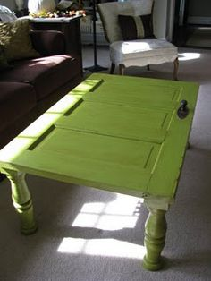 old door, made coffee table!