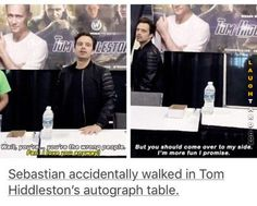Tom Hiddleston's autograph table #lol #laughtard #lmao #funnypics #funnypictures #humor  #tomhiddleston
