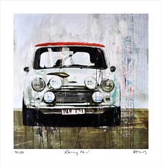 """Mini Racing"" von Markus #Haub Edition auf Art-Paper 74 x 72 cm ab 180,00 € http://www.artfan.de/haub-markus-mini-cooper-racing-classic-race-car-junge-kuenstler.html"