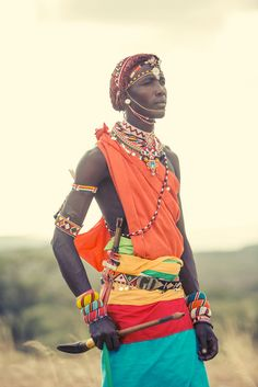"""The Samburu TribeMy aim was to spend time with the tribe and capture the essence of the Samburu spirit and soul. Photographing iconic African tribes and the way they express themselves """" through movement and da… African Beauty, African Fashion, Kenya, Tanzania, Africa Tribes, Native American Images, American Art, Art Tribal, African Paintings"""