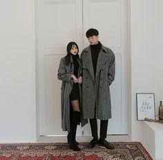 Korean Couple Fashion – - New Site Korean Couple Fashion, Korean Fashion Dress, Korean Fashion Kpop, Korean Fashion Winter, Asian Fashion, Punk Fashion, Fashion Men, Hijab Fashion, Fashion Dresses