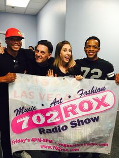 "702 ROX guests professional NY Salsa dancer Larry Wade Hampton and Professional Trainer Bryce Brandon with host Michelle ""Roxy"" Davis and Danny Vegas every Friday 4-6pm on www.vegasallnetradio.com"