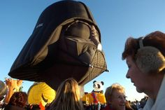 The Darth Vader hot-air balloon will once again fly at the Albuquerque International Balloon Fiesta.  I want this!