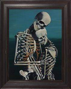 Chris Peters   To Love and Protect   Skeleton Painting   Mike Dirnt, Greenday