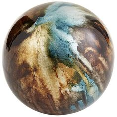 I am absolutely in love with this... it's beautiful  Foil Sphere - Taupe. @ Pier 1 imports
