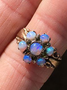 Opal Ring Victorian Era 10K Gold