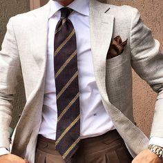 Tan suit for men