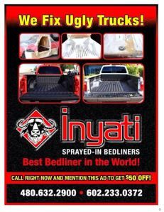 Inyati Sprayed- In Bedliners (480) 632-2900   (602) 233-0372
