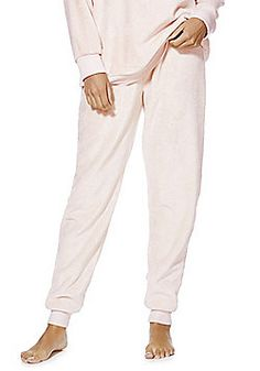 F&F Fleece Cuffed Lounge Pants - Pink