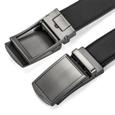 2702ed12ab16ac MUCO Mens Belt Leather Ratchet Belts With Automatic Buckle For Men Simple  and Classic **