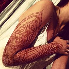 henna tattoo sleeve - Lady Lorelie Productions