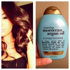 Morrocan Argan OIL | I get questions about how i keep my hair so shiny and healthy looking, first thing is i dont dye my hair. To keep my ends silky and smooth I use renewing Moroccan argan oil conditioner, it keeps my hair shiny and soft and it smells really good!  #BeautyTipThursday  #bblu @tazsangels_ - @leenasayed_- #webstagram