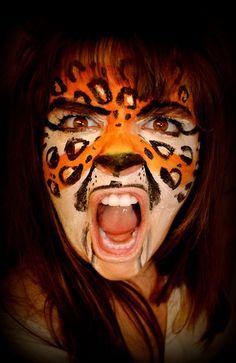 Leopard Face Painting Design