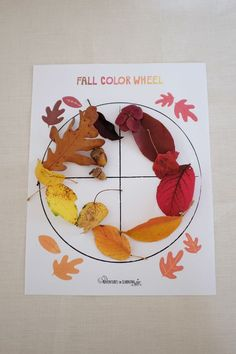 fall color wheel - free printable! It's an activity that is part scavenger hunt, part color theory and all about kids tuning in to the world around us and honing their skills of observation.