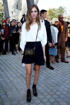 Chiara Ferragni, Louis Vuitton, Paris Fashion Week.  Foto Getty Images