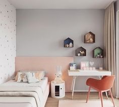 A pretty little girl's room by Studio Design Arch, Miffy lamp available at www.istome.co.uk