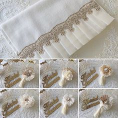 Imagem relacionada – Home Trends 2020 Guest Towels, Hand Towels, Tea Towels, Sewing Crafts, Sewing Projects, Projects To Try, Linens And Lace, Home Trends, Felt Flowers