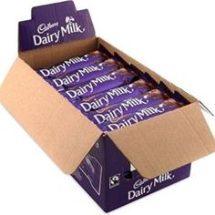 Cadbury Dairy Milk Chocolate Bar Case 48 X Cadburys Dairy Milk bars 48 standard bars each Cadbury Dairy Milk Chocolate, I Love Chocolate, Dairy Free Chocolate, Chocolate Lovers, Milk Quotes, Dairy Free Overnight Oats, Milk Allergy, Dairy Free Recipes, Chocolates
