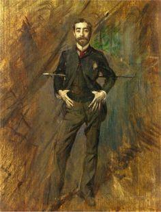 Portrait of John Singer Sargent, Giovanni Boldini  1890