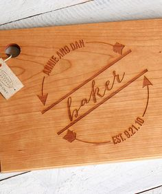 This Arrow Circle Personalized Cutting Board is perfect! #zulilyfinds