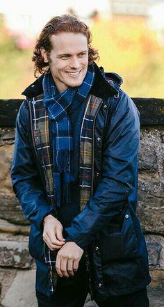 Sam modeling his Barbour line of clothing Sam Reid, Sam Heugan, Serie Outlander, Outlander Casting, Outlander 2016, Sam Heughan Caitriona Balfe, Sam Heughan Outlander, Jamie Fraser, Sam Worthington