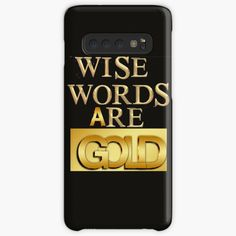 """""""Wise Words are Gold for Gold Lover, Goldengirlsm lovely Girls"""" Hülle & Klebefolie für Samsung Galaxy von Herogoal 
