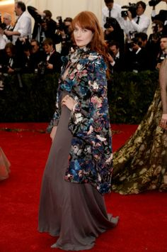 Florence Welch in Valentino at the 2014 Met Gala