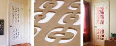 Crestview Fancy Panels for door enhancement. I like the one on the far left, 'Mr Sandman'