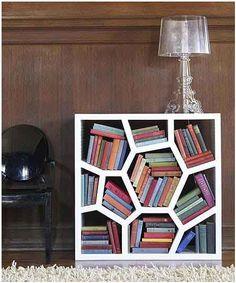 What a unique bookshelf design! #bookshelves #office #work