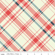 Emily Taylor - Vintage Verona - Plaid in Coral - @Ann Dorsey another Riley Blake Designs fabric! - downstairs bedroom