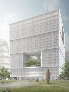 Amorepacific Headquarters .  Seoul    David Chipperfield Architects  . Amorepacific   Groundbreaking ceremony in Seoul for the Amorepacific ...
