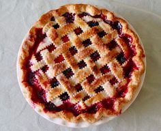 Fresh cherry pie is beautiful, quite simple to make and very versatile as well. I used frozen cherries, but you can use fresh or canned. Elderberry Pie, Elderberry Recipes, Huckleberry Pie, Huckleberry Recipes, Good Pie, Tapas, Pie Crust Recipes, Ricotta, Cheesecake
