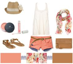 I like everything but the shorts with the pockets hanging out. I would wear coral dress shorts.