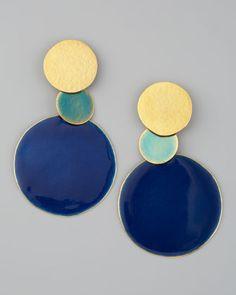 Pastilles Dot Earrings by Herve Van Der Straeten at Neiman Marcus.